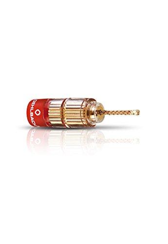 Oehlbach Solution Banana-Flex - Flexible Bananenstecker für Kabel bis 6mm² - Perfekt zur Verjüngung größerer Querschnitte - 4 Stück - Gold