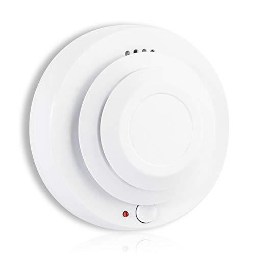Rookmelder - MODUN, 3V batterij aangedreven foto-elektrische rookalarm, rode led licht waarschuwing met 80dB Siren, rook waarschuwing voor residentiële, lounge en andere binnenplaatsen (batterij uitgesloten)