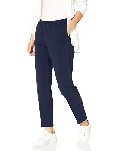 Ruby Rd. Women's Pull-on Stretch French Terry Pants, Navy, Petite/Large