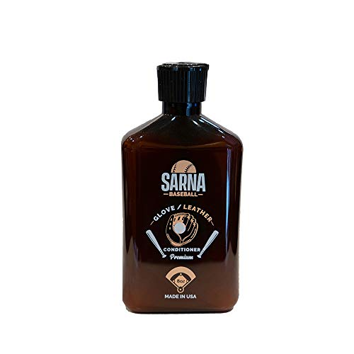 SARNA Baseball Glove Leather Conditioner - Use on Baseball Gloves, Softball Gloves, and Other Leather Sports Equipment (8.0 oz) - Made in USA