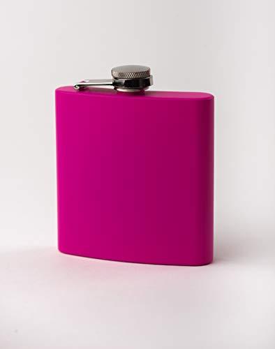 Licorera, Petaquera, Cantinplora, Anfora, Flask de Acero Inoxidable, 6oz (Rosa)