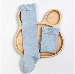 Lovely Socks 6 Pairs Children Cotton Socks Kids Spring and Autumn Mid Tube Socks(White) Newborn Sock (Color : Blue)