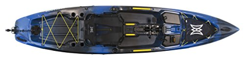 Perception Pescador Pilot 12 | Sit on Top Fishing Kayak with Pedal Drive | Adjustable Lawn Chair Seat and Tackle Storage Areas | 12' | Sonic Camo