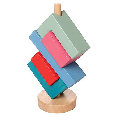 Manhattan Toy- Bam Jouet empilable en Bois pour Les Tout-Petits, 218150, Multicolore