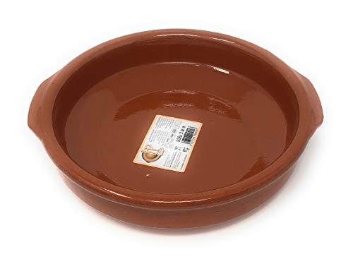 Cazuela, traditionel, flach, braun 23 cm