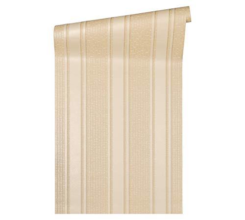 Versace wallpaper Vliestapete Greek Luxustapete gestreift 10,05 m x 0,70 m beige creme metallic Made in Germany 962374 96237-4