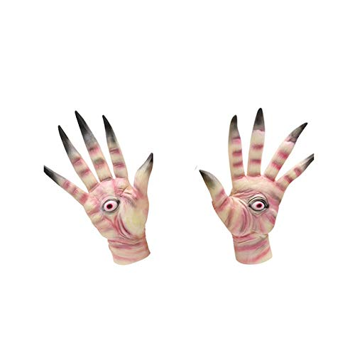 JNKDSGF Horror maskMovie Pans Labyrinth Cosplay Masker Latex Enge Geest Halloween Party Maskers Handschoen Carnaval Props