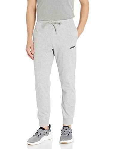 adidas Men's Essentials Single Jersey Jogger Medium Gray Heather/Black Large