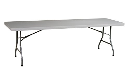 Office Star Resin Multipurpose Rectangle Table, 8-Feet Long