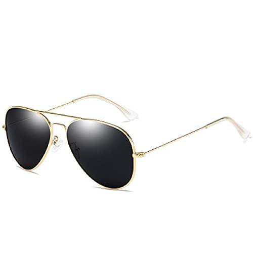 Moda Gafas De Sol Polarizadas Hombres Mujeres Diseño Clásico De Marca Piloto De Conducción Gafas De Sol con Espejo Vintage Gafas De Sol Dorado