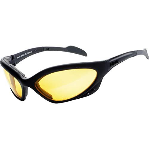 HELLY® - No.1 Bikereyes® | Bikerbrille, Motorrad Sonnenbrille, Motorradbrille, Chopper Brille | beschlagfrei, winddicht, bruchsicher| TOP Tragegefühl | Brille: speed king 2