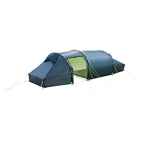 Jack Wolfskin Unisex– Adult's Lighthouse Ii Rt Dome Tent for Camping, Steel Blue, Standard