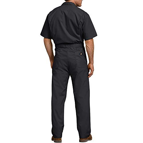Dickies Men's Short Sleeve Coverall, Black, Large Regular
