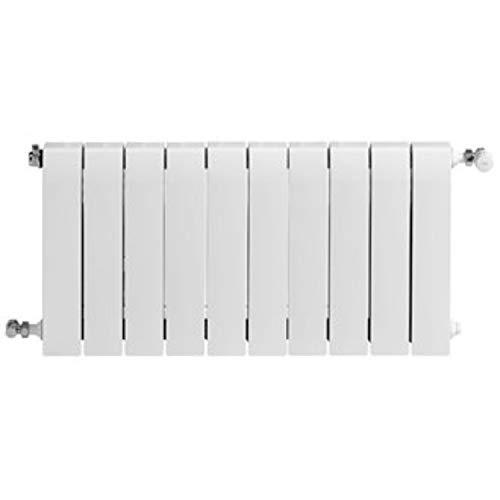 Baxi Radiador de aluminio de alta emisión térmica Batería, 10 elementos, serie Dubal 70, 8,2 x 80 x 67,1 centímetros (Referencia: 194A31001), blanco, estándar