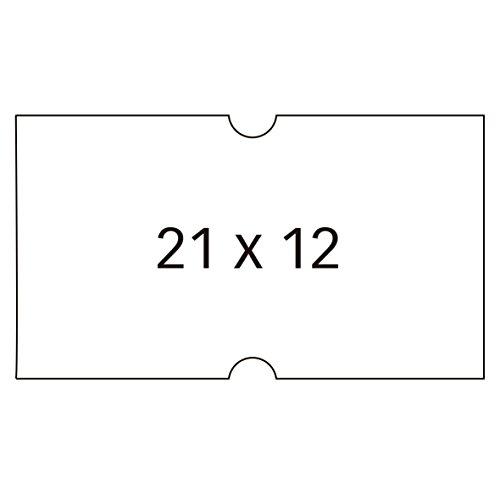 APLI 100910 - Pack de 6 rollos para etiquetadora, color blanco