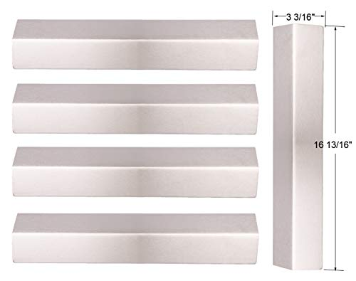 BBQ funland Set of 5 Stainless Steel Heat Plates Replacement for Gas Grill Models Brinkmann 810-1750-S, 810-1751-S, 810-3551-0, 810-3820-S, 810-3821-F, 810-3821-S