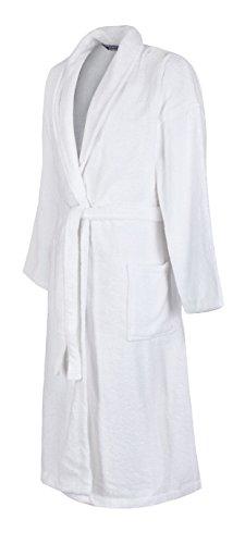 Lloyd Attree & Smith velours badjas van puur katoen - heren - wit