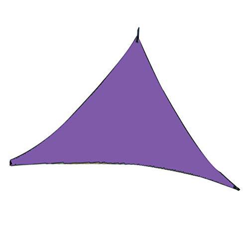 JIAYANLH Toldo Vela de Sombra Triangular Metros Protección Rayos UV, Plegable Resistente y Transpirable para Patio Exteriores Jardín (6X6X6M,Purple)