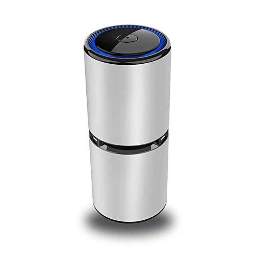 Purificador de Aire Limpiador de Aire: sin Necesidad de Filtro, generador de Iones Negativos portátiles Ionizador Eliminar el Polvo de Humo PM2.5 Alergias Gérmenes,Plata