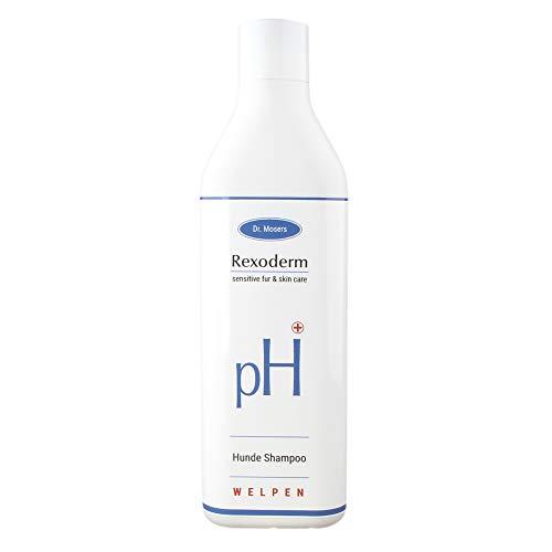 Dr. Mosers REXODERM Welpen-Shampoo | Extra mild und sensitiv | Geschmeidiges Fell | angenehmer Geruch | Beruhigt die Haut | Bio-Hundeshampoo ohne Silikone (300 ml)