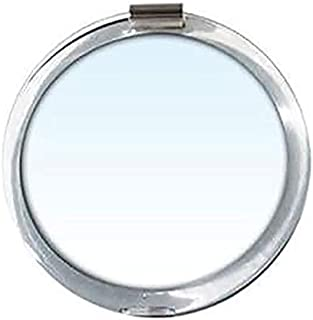 Rucci 3-in-1 Magnifying Compact Mirror, Clear Acrylic, 10.2cm Diameter