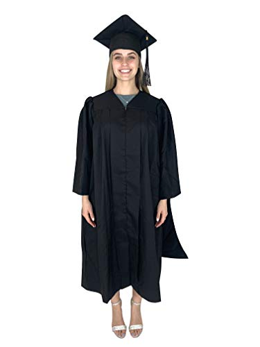 Cappe Diem Masters Graduation Deluxe Black Cap and Gown Tassel Package (51' (height 5'6'-5'8' chest 59'))