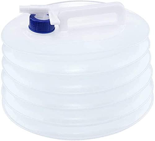 TXXM Contenedor de Agua Plegable, Cubo de Portador de Agua Plegable portátil no tóxico sin tóxicos de 5L para Acampar, Senderismo, Caza, Deportes, Viajes, Pesca (Color : 5L)