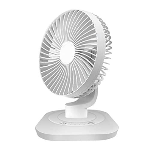zhoujin Ventilador de mesa recargable por USB, 3000 mAh, 120 grados, oscilación de 3 velocidades, para casa, oficina, dormitorio, camping, al aire libre, ventilador USB de 120 grados de oscilación