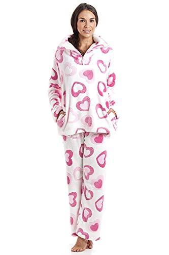 Camille Conjuntos de Pijama de Felpa Suave de...