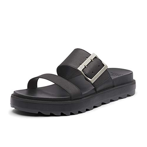 Sorel Women's Roaming Buckle Slide Sandals, Black, 10.5 Medium US