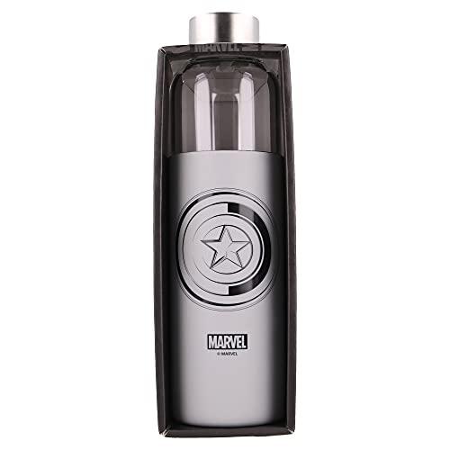 Stor Marvel   Botella de Agua de Cristal de Borosilicato Reutilizable -...