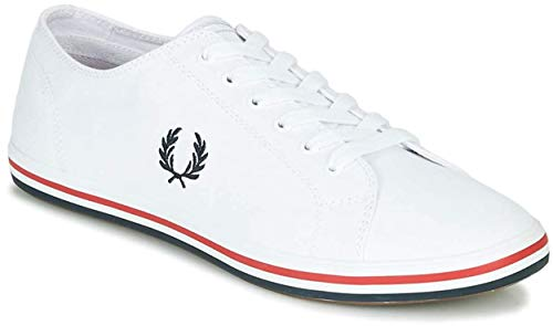 Fred Perry - Scarpe Donna Kingston Twill White B7259 134 - Bianco, 36 EU FP