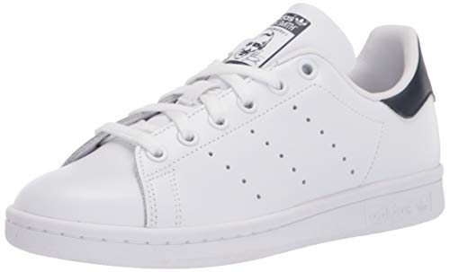 adidas Originals Women's Stan Smith, White/White/Collegiate Navy, 11