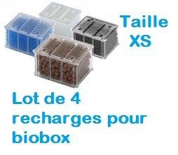 Tetra : Lot de 4 filtres de Recharge biobox