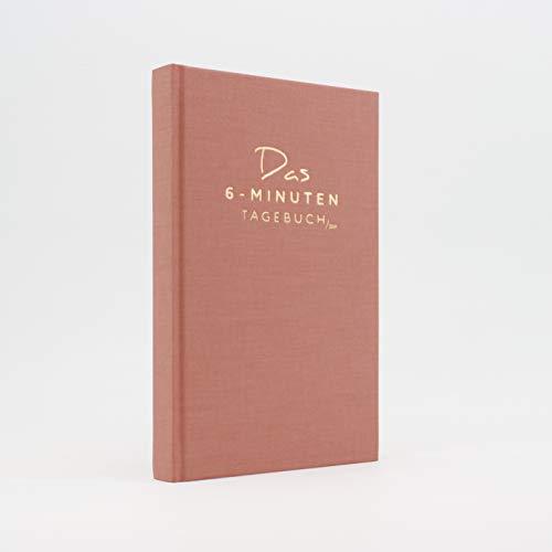 Das 6-Minuten Tagebuch PUR | Dankbarkeitstagebuch, Anti-Stress Tagebuch | Täglich 6 Minuten für deine Persönlichkeitsentwicklung, mehr Entspannung & Achtsamkeit (altrosa)