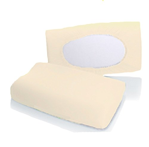Bellana Gesundheitskissen Bezug Mako Jersey 30-50 x 40-80 cm und 8-15 cm Höhe cm Farbe: Creme