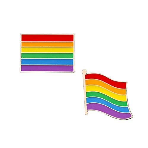 2-3Pcs/Set Rainbow Brooch Cartoon Heart Sheep Mouse Enamel Pins Lesbians Gays Pride Badge Lover Clothes Lapel Pin Gift-Flag,China