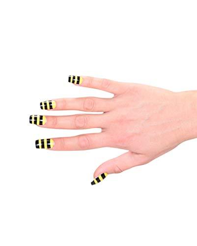 Horror-Shop Bienchen Kunststoff Fingernägel zum aufkleben an Fasching