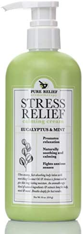 Stress Relief Calming Body Cream Eucalyptus and Mint Aromatherapy Body Lotion with Arnica Coconut product image