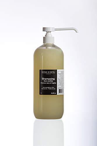 Shampoing Sans Sulfate au Ricin 1L Shampoing Très Nourrissant Hydratant pour Cheveux Très Secs Frisés et Crépus. Shampoing Nourrissant Sans Sulfate Non Testé sur les Animaux.