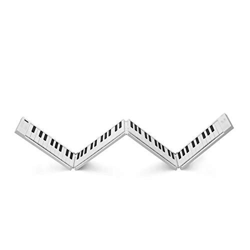 LIERSI 88 Keys Faltbare Elektronische Klavier Tragbare Tastatur 128 Töne Dual Lautsprecher Kopfhörerausgabe Mit Sustain Pedal