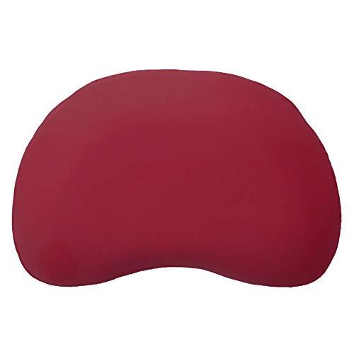Edda Lux Bezug für Tempur Curve S/M Kissen | Jersey-Kissenbezug mit Reißverschluss | 61x40 cm | 100% Baumwolle | Farbe Karmin