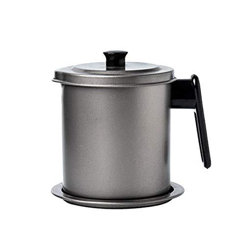 XQK Pot De Crépine D'huile, Bidon De Graisse en Acier Inoxydable Récipient De Stockage D'huile De Cuisson avec Filtre à Mailles Fines Amovible Parfait pour Stocker l'huile De Friture