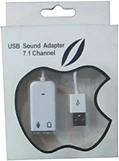 USB Sound Adapter for Mobile Phones - White