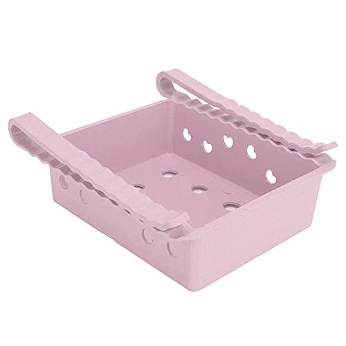 Contenedores organizadores de refrigerador, caja de almacenamiento de refrigerador tipo cajón con manija frontal para congelador, cocina para gabinetes de encimeras(Pink)