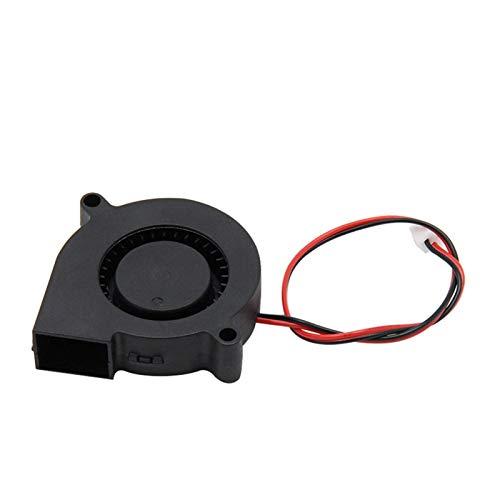 Accesorios de impresora 5015 12V 24V Ventilador turbo de enfriamiento sin escobillas para piezas de impresora 3D 2 pines para extrusora Ventilador enfriador de CC 50x50x15mm Parte Ventiladores de plás