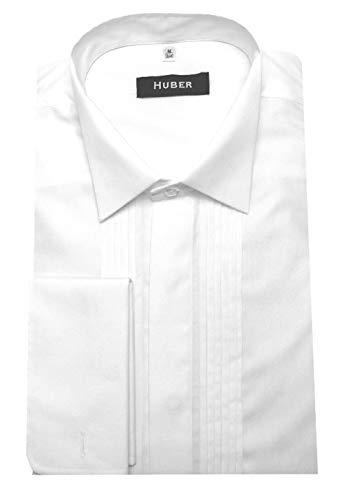Huber Hemden Huber Smokinghemd mit Biesen weiß L