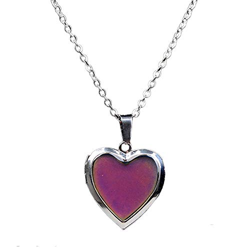 LH1028 Temperature Mood Mood Color Necklace Love Heart Box Emotion Necklace (Love)