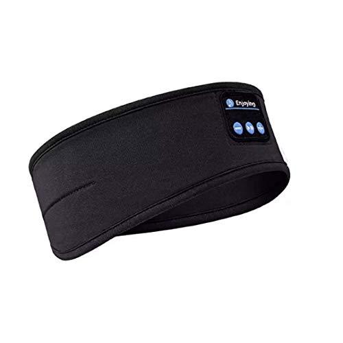 31r9pvmnMWL - Sleep Headphones, Bluetooth 5.0 Wireless 3D Eye Mask 2019 Updated, WATOTGAFER Sleeping Headphones for Side Sleepers, Washable Travel Music Play Adjustable Speakers Microphone Handsfree Long Play Time