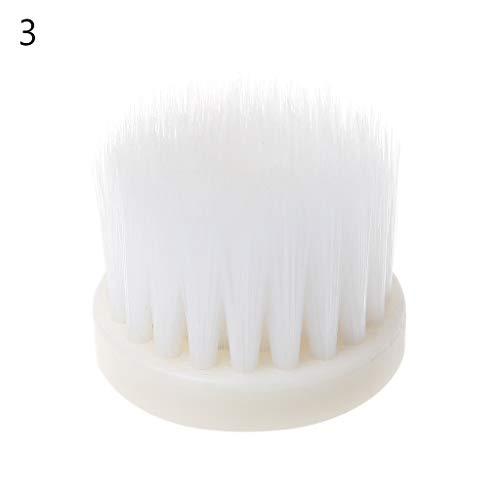 Yintiod 40 mm scrub-reinigingsborstelkop met booraandrijving en borstelharen voor het reinigen van autotapijt, badstof 3 Wit, koffie, bruin